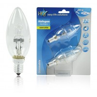 AMPOULE BOUGIE HALOGENE ECO E14 28W HQ
