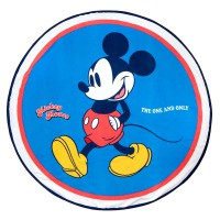CERDA - Serviette de plage ronde en microfibre Disney Mickey