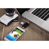 Alpexe Lecteur De Cartes SD/Micro SD Micro USB OTG et Lecteur de Carte mémoire USB pour SDXC RS-MMC MMC Micro SDXC SDHC SD Micro