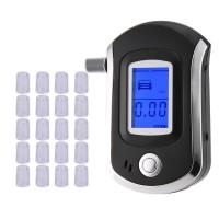 Alpexe Testeur d'alcool Professionnel Éthylotest Électronique Portable Analyseur de Souffle avec 20 Embouts