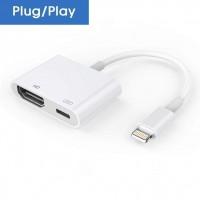 Alpexe Adaptateur Lightning pour téléphone HDMI COMPATIBLE iPhone XS/XR/X / 8/7/6/5 / Pad Air/Mini/Pro