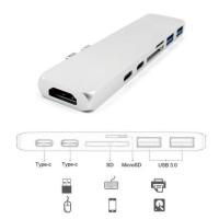 Alpexe Hub universel USB 3.1 Type-C multifonction 7-en-1 pour MacBook Pro