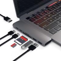 Alpexe 7 en 1 Adaptateur Double Type-C Hub USB 3.0 Ports Thunderbolt 4K HDMI pour MacBook Pro