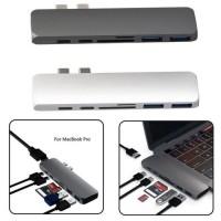 Alpexe HUB adaptateur Macbook 7-en-1 Type-C vers 1x USB-C PD port, 1x USB-C, 2x USB 3.0, 1x 4k HDMI et x1 SD/Micro