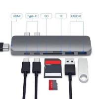 Alpexe Concentrateur Hub USB & C 7 sur 1 3 Thunderbolt de type C Hub USB 3.0 d'accueil pour ordinateur portable