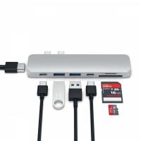 Alpexe HUB 7 en 1 pour Macbook Pro (ports USB 3.0, USB C, port HD 4K et SD)