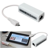 Alpexe Micro USB 5 broches vers RJ45 Adaptateur Réseau Ethernet 10/100 M