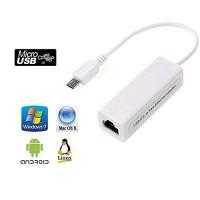 Alpexe Micro USB 2.0 Mâle À Rj-45 Rj45 Femelle 100 Mbps Ethernet LAN Carte Réseau Adaptateur pour Windows Pc Portable Tablet