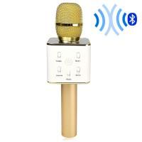 Alpexe Microphone Micros sans fil portable, haut-parleur Bluetooth intégré Compatible avec iOS iPhone Android Smartphone PC Tabl