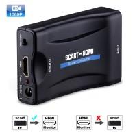 Alpexe 1080P Péritel vers HDMI MHL Audio converdisseur Adaptateur vidéo pour TV HD DVD Sky Box