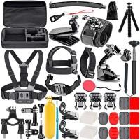Alpexe Kit d'accessoires pour caméra d'action 50 en 1 pour GoPro Hero 6/5/4 / SJCAM/Xiaomi