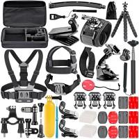 Alpexe 50-en-1 Kit d'Accessoire pour Gopro Hero 7 6 5 4 3+ 3 2 1 Hero Session 5 Black AKASO EK7000 Apeman SJ4000 5000 6000 DBPOW