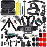 Alpexe 50-en-1 Kit d'Accessoires pour caméra d'action pour Gopro Hero 2018 Hero 7 6 5 4 3 Hero 5 Noir, Session Héros Session Cam