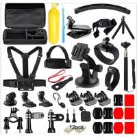 Alpexe Kit d'accessoires de caméra Mobile pour Gopro pour Go Pro héros 5 4 3 Action Camera Accessoires Kits pour xiaomi yi xiao