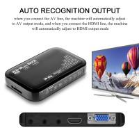 Alpexe Lecteur multimédia HDMI, Numérique 1080p Full HD Ultra HDMI Pour Lecteurs -MKV / RM- HDD USB Noir