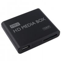Alpexe Mini-Lecteur multimédia Full HD 1080p MPEG / MKV / H.264 HDMI AV USB + Télécommande