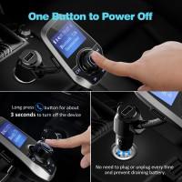 Alpexe Transmetteur FM Bluetooth Kit Voiture Main-Libre sans Fil Adaptateur Radio