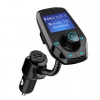 """Alpexe Chargeur de Voiture Ports USB et 3.5mm Audio Port Ecran de 1,44"""" Transmetteur FM"""