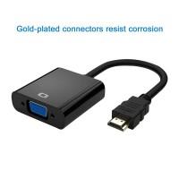Alpexe Adaptateur HDMI vers VGA – Noir