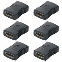 Alpexe Lot de 6 Coupleur HDMI, Adaptateur HDMI Femelle vers Femelle, Connecteur