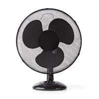 Ventilateur de Table   40 cm de Diamètre   3 Vitesses   Fonction d'Oscillation   Noir