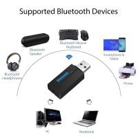 Alpexe Mini USB Récepteur Bluetooth et 3.5mm Jack Dongle pour Voiture PC TV