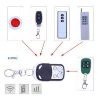 Alpexe Télécommande sans Fil a 4 Canaux Duplicateur pour Porte de Garage Porte électrique (433MHz)