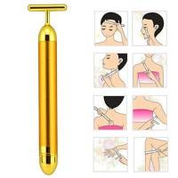 Alpexe 24 K Golden Beauty Bar du visage Pulse Massager électrique Micro vibrations