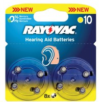 Rayovac piles pour aides auditives 1.4 V 90 mAh 8 pcs