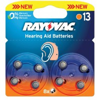 Rayovac piles pour aides auditives 1.4 V 290 mAh 8 pcs