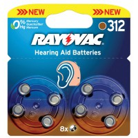 Rayovac piles pour aides auditives 1.4 V 160 mAh 8 pcs