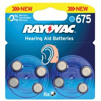 Rayovac piles pour aides auditives 1.4 V 630 mAh 8 pcs