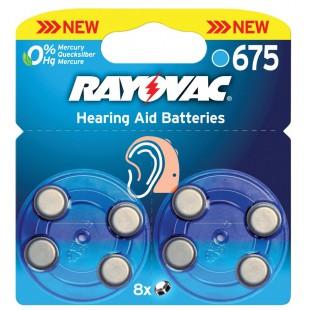 Rayovac piles pour aides auditives 1.4 V 630 mAh 8 pcs