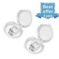 Alpexe 2x Silicone Magnetic Snore Protection Aide Efficacement à Lutter Contre Le ronflement, apnée du Sommeil