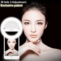 Alpexe 36 LED 3-Niveau Luminosité Anneau Selfie éclairage de Nuit ou L'obscurité Selfie