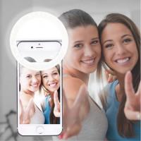 Alpexe Selfie Anneau Lumière, 36 LED Éclairage Nuit pour Smart Phones