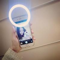 Alpexe Mini Portable LED Fill flash selfie lumière + 3 Filtres pour téléphone portable iPhone Samsung