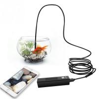 Alpexe USB Android Endoscope 2.0 Megapixels CMOS HD 2 en 1 caméra d'inspection imperméable à l'eau (5 mètres)