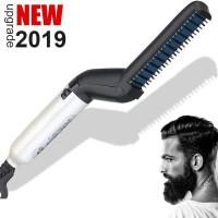 Alpexe Peigne électrique pour homme, lissant pour cheveux et barbe, coiffure et modelage