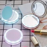 Alpexe Petit Miroir de Poche Lumineux LED Grossissant