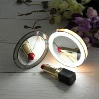 Alpexe Miroir compact de maquillage de voyage à LED, pliant