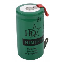 HQ Ni-MH R20 backup battery 1.2 V 4000 mAh with soldering tags