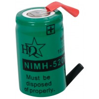 HQ Ni-MH backup battery (1 cell) 1.2 V 1000 mAh with soldering tags