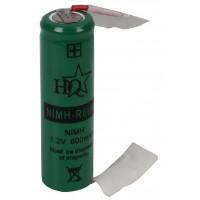 HQ Ni-MH backup batterij 1.2 V 600 mAh with soldering wires