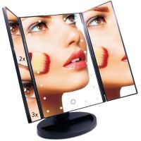 Alpexe Miroir Lumineux de Maquillage Tactile Grossissement 2x3x LEDs NOIR