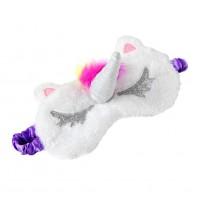 Alpexe Masque de sommeil licorne en peluche douce pour les yeux pour femmes et filles