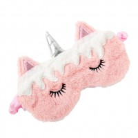 Alpexe Masque de licorne en peluche avec yeux de dessin animé