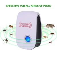 Alpexe Répulsif Ultrason Lot DE 2, Anti Moustiques, Mouche, Fourmi, Cafard, Araignées, Souris, Rongeurs Insectes, sans d'odeur