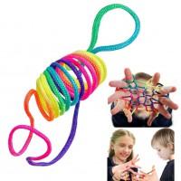 Alpexe Jeux d'adresse Jeu de corde Multicolore
