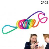 Alpexe Corde à Doigts Rainbow Toy (Paquet de 2)